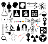 Vector clipart: Science icons set
