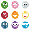 Vector clipart: Cheerful smiles