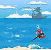 Vector clipart: Fishing