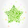 Vector clipart: Green star