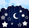 Vector clipart: Night