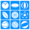 Vector clipart: Sports balls