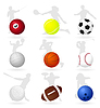 Sports balls | Stock Vector Graphics