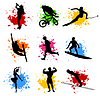 Vector clipart: Sports silhouettes