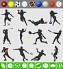 Vector clipart: Sports with ball