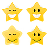 Vector clipart: smiling stars