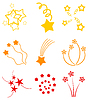 Vector clipart: Star salute