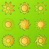 Vector clipart: Sun icons