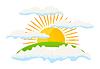 Векторный клипарт: солнце