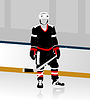 Vector clipart: hockey player