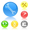 Vector clipart: Buttons of tools