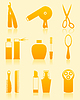 Vector clipart: Hairdressing salon icons