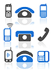 Vector clipart: phone icons