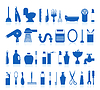 Vector clipart: bathroom icons