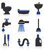 Vector clipart: Icons - sanitary technicians