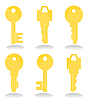 Vector clipart: Keys