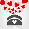 Vector clipart: Love phone