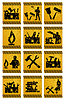 Vector clipart: worker icons