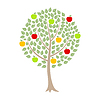 Vector clipart: Apple-tree