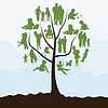 Vector clipart: Family tree