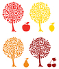 Vector clipart: Fruit trees