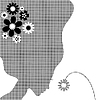 Vector clipart: Girl with flower