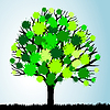 Vector clipart: Green tree