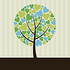 Vector clipart: Love tree