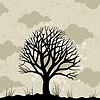 Vector clipart: Old tree