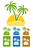 Vector clipart: Palm tree