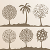 Vector clipart: Park trees
