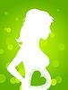 Векторный клипарт: беременная девушка