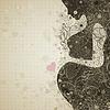 Vector clipart: Pregnant girl