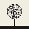 Vector clipart: Round tree