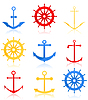 Vector clipart: Sea icons