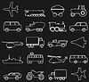 Vector clipart: Transport icons