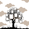 Vector clipart: Tree framework