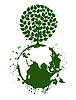 Vector clipart: Tree planet