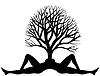 Векторный клипарт: Дерево из людей