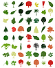 Vector clipart: Trees and leaves