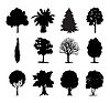 Vector clipart: Trees icons