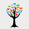 Vector clipart: Voice tree