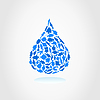 Vector clipart: Water drop