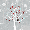 Vector clipart: Winter tree