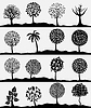 Vector clipart: round trees