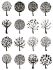 Vector clipart: Wood tree