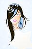 Vector clipart: girl
