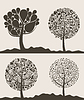 Vector clipart: Collection of trees