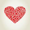 Vector clipart: Heart person