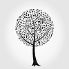 Vector clipart: Musical tree